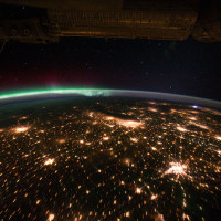 Lights over the US Midwest